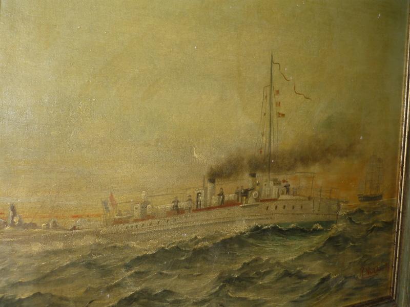 le contre torpilleur la Bombarde de 1903 et le torpilleur numéroté 340 de 1904 P1000618