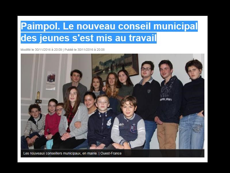 Paimpol. Le nouveau conseil municipal des jeunes s'est mis au travail  Sans_261