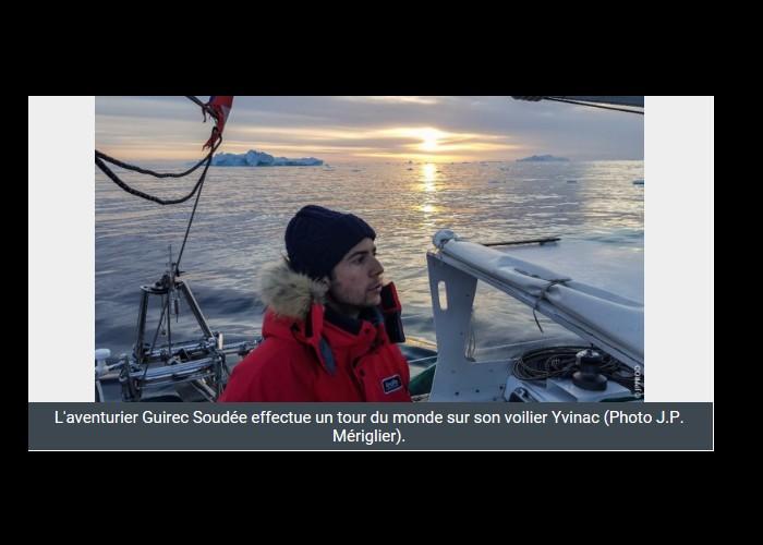 PAIMPOL  /   Bientôt sur Thalassa. Un Paimpolais filme l'aventurier Guirec Soudée au Groenland Sans_391