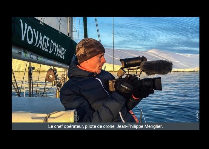 PAIMPOL  /   Bientôt sur Thalassa. Un Paimpolais filme l'aventurier Guirec Soudée au Groenland Sans_393