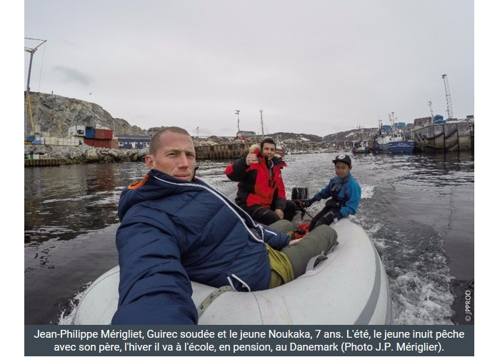 PAIMPOL  /   Bientôt sur Thalassa. Un Paimpolais filme l'aventurier Guirec Soudée au Groenland Sans_395