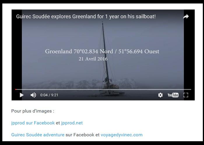 PAIMPOL  /   Bientôt sur Thalassa. Un Paimpolais filme l'aventurier Guirec Soudée au Groenland Sans_396