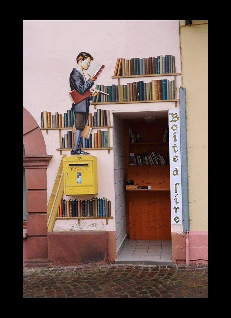 Boîte à livres à Ribeauvillé en Alsace Sans_417