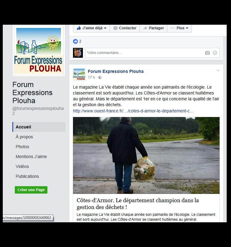 FORUM EXPRESSION Côtes-d'Armor. Le département champion dans la gestion des déchets ! Sans_t15