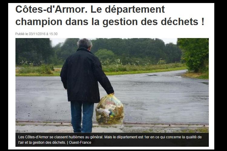 FORUM EXPRESSION Côtes-d'Armor. Le département champion dans la gestion des déchets ! Sans_t16