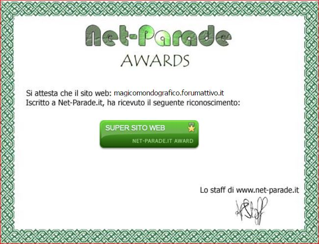 9° attestato Award10
