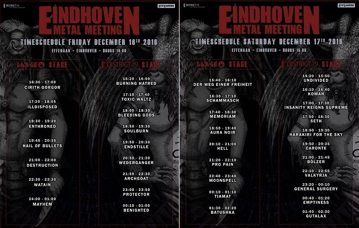 SHOETIME - EINDHOVEN METAL MEETING  December 16th & December 17th 2016 Effenaar Emm-da12