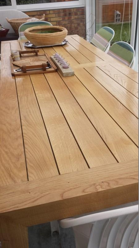 Table de salle à manger en chêne 20160312