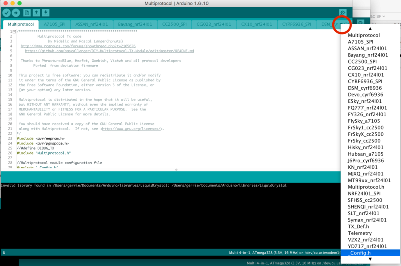 [TUTO] Customisation sous Arduino du module multiprotocole BG 4 en 1 STM32 Arduin10