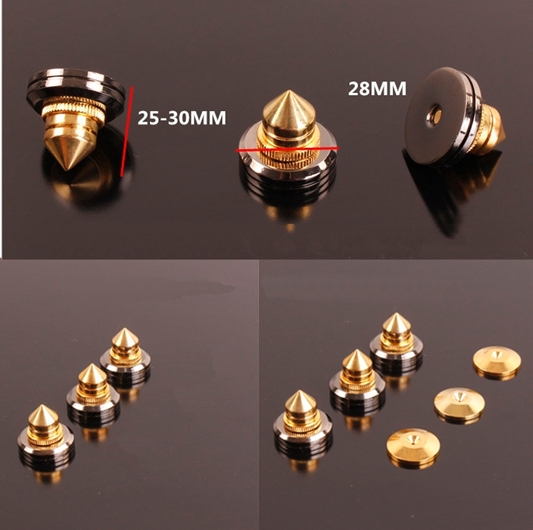 24K Gold Plated Pure Copper Spikes + Nickel plated top Csr110