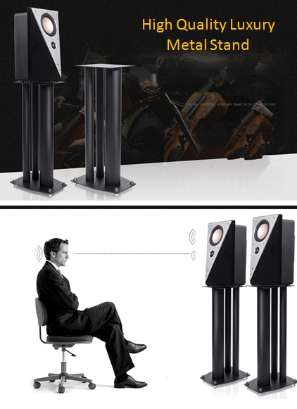 """Speaker Stand 24""""(60cm) High Quality Luxury Solid Metal Sn1a1010"""