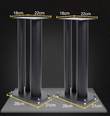 """Speaker Stand 24""""(60cm) High Quality Luxury Solid Metal Sn21010"""