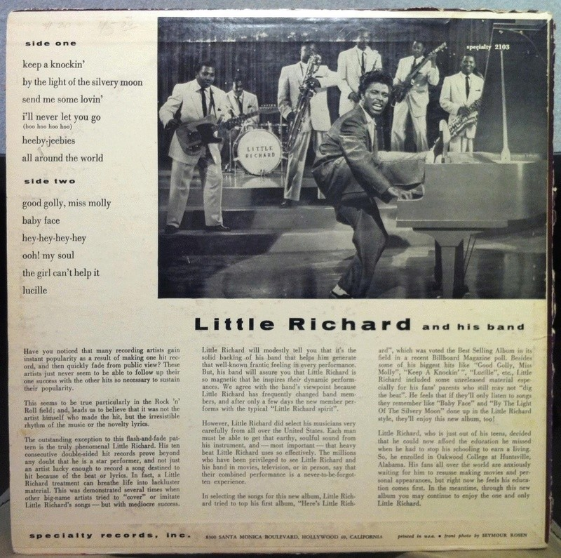 LITTLE RICHARD - 2nd album - speciality SP 2103 -  1958 1714