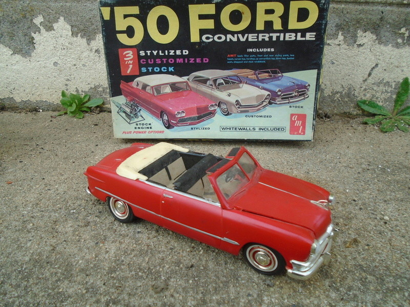 1950 Ford Convertible - customizing kit - trophie series - amt Dsc05622