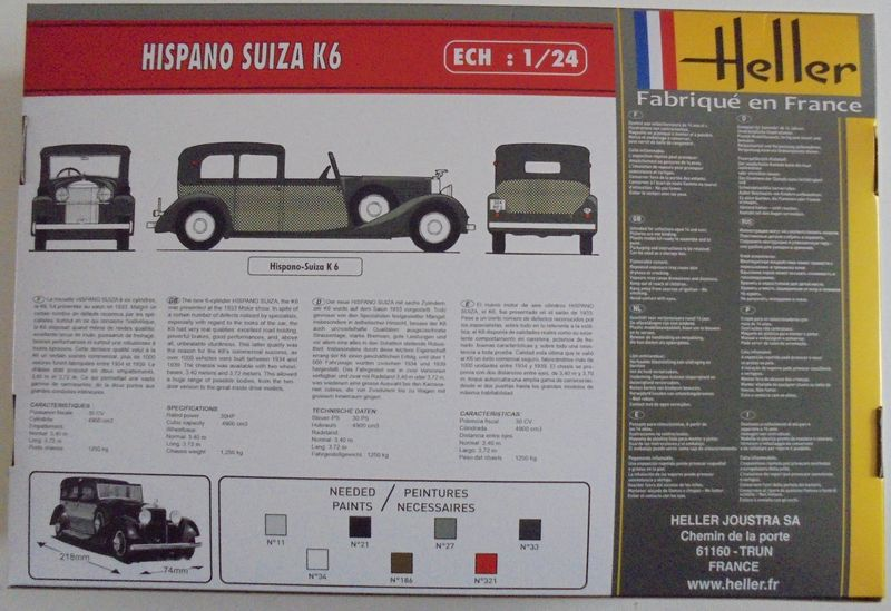 HISPANO SUIZA K6 1/24ème Réf 80704 His_0012