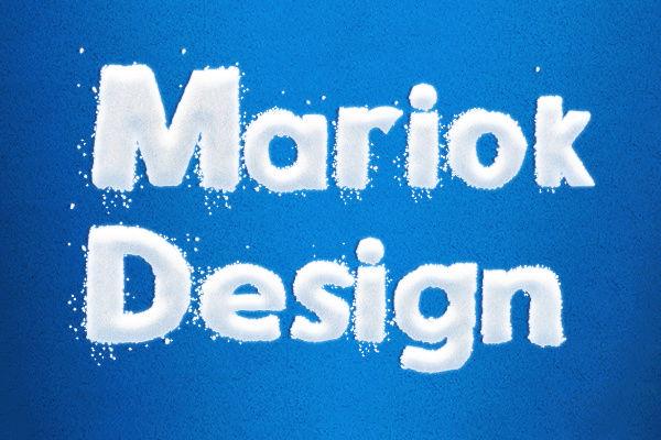 [TUTORIEL Photoshop][EFFET TEXTE]  Ecriture effet style neige Mariok10