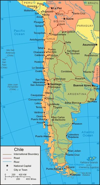 Chamaco fait l'Amérique du Sud et Centrale Carte_11