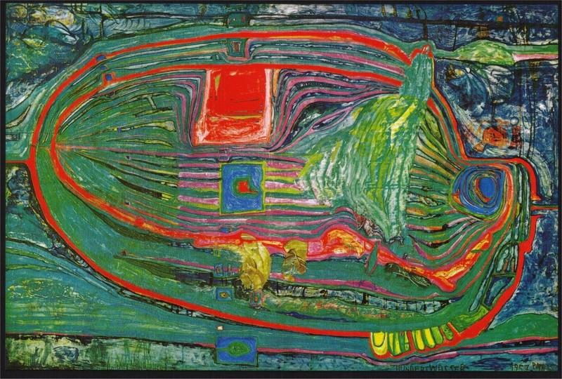 Friedrich Stowasser  dit Friedensreich Hundertwasser Hunder12