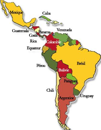 Chamaco fait l'Amérique du Sud et Centrale Liste_10