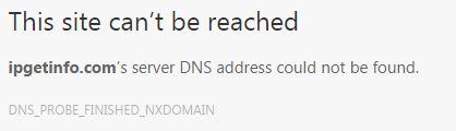 Checking IP address gives error Captur22