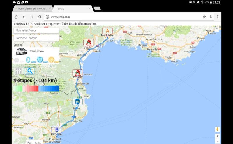 Route planner myevtrip.com: Véhicule, Itinéraire, Bornes (image 360°), Météo, Conso, Partager - Page 3 2016_111