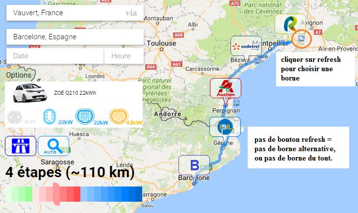 Route planner myevtrip.com: Véhicule, Itinéraire, Bornes (image 360°), Météo, Conso, Partager - Page 6 Refres10