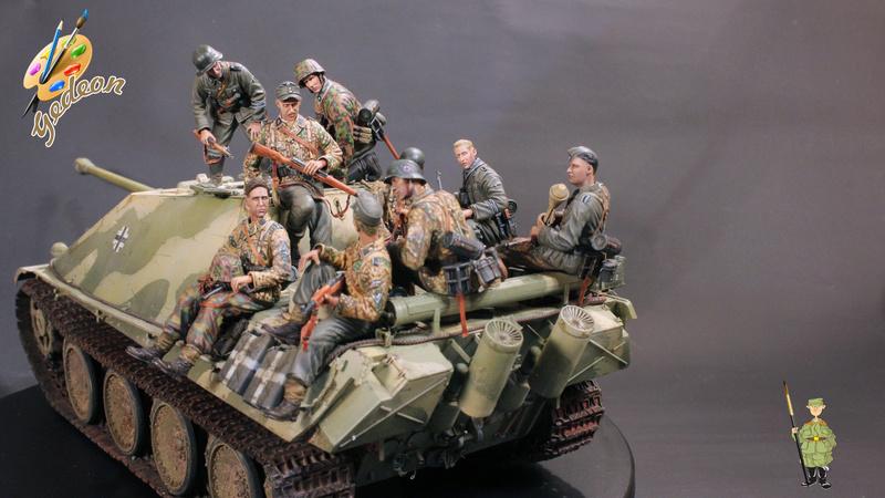 Jagdpanther Sd.Kfz.173 – 1/35ème Dragon - Equipage terminé - Page 10 Du_mon13