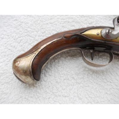 Pistolet de marine à canon et platine en bronze _0000510