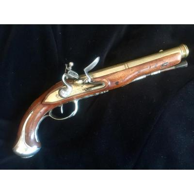Pistolet de marine à canon et platine en bronze _0000910
