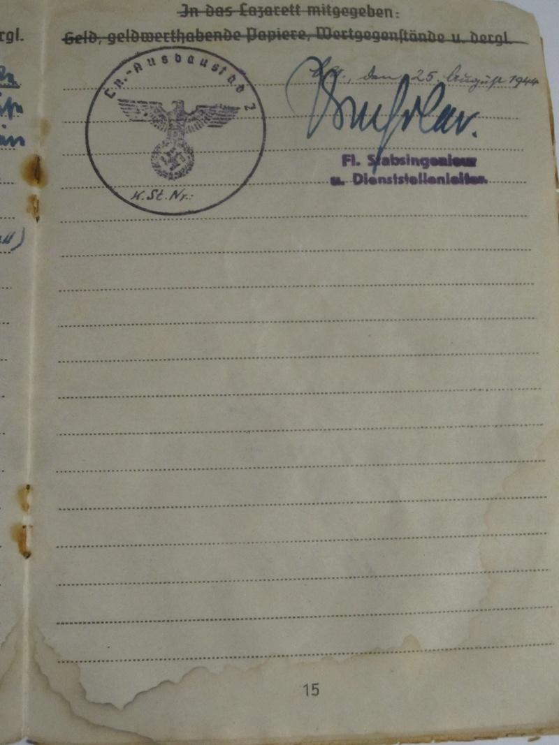 Soldbuch Luftwaffe 1510