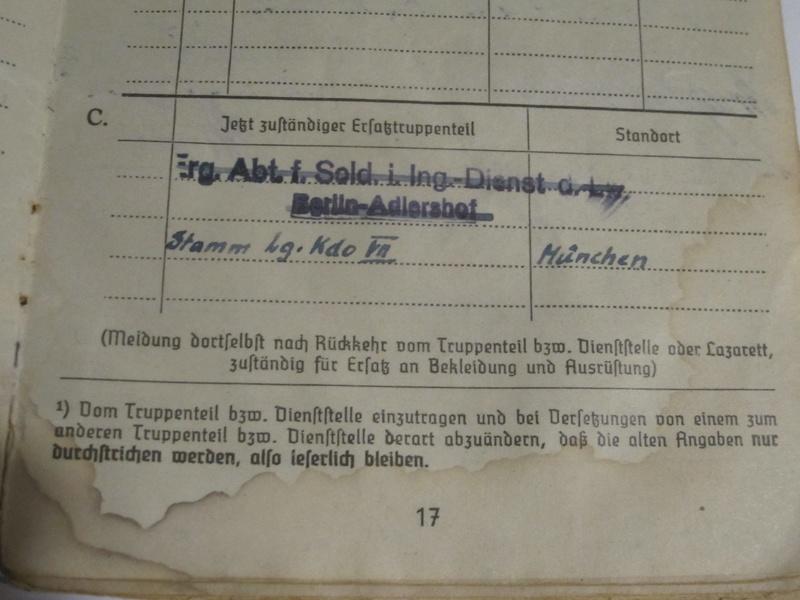 Soldbuch Luftwaffe 1710