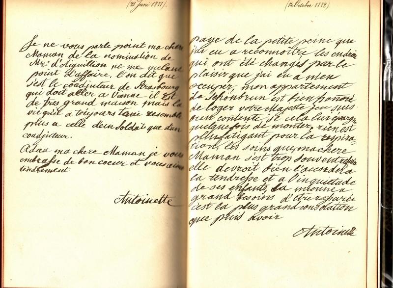 Correspondance entre Marie-Antoinette et sa mère  Briefo10