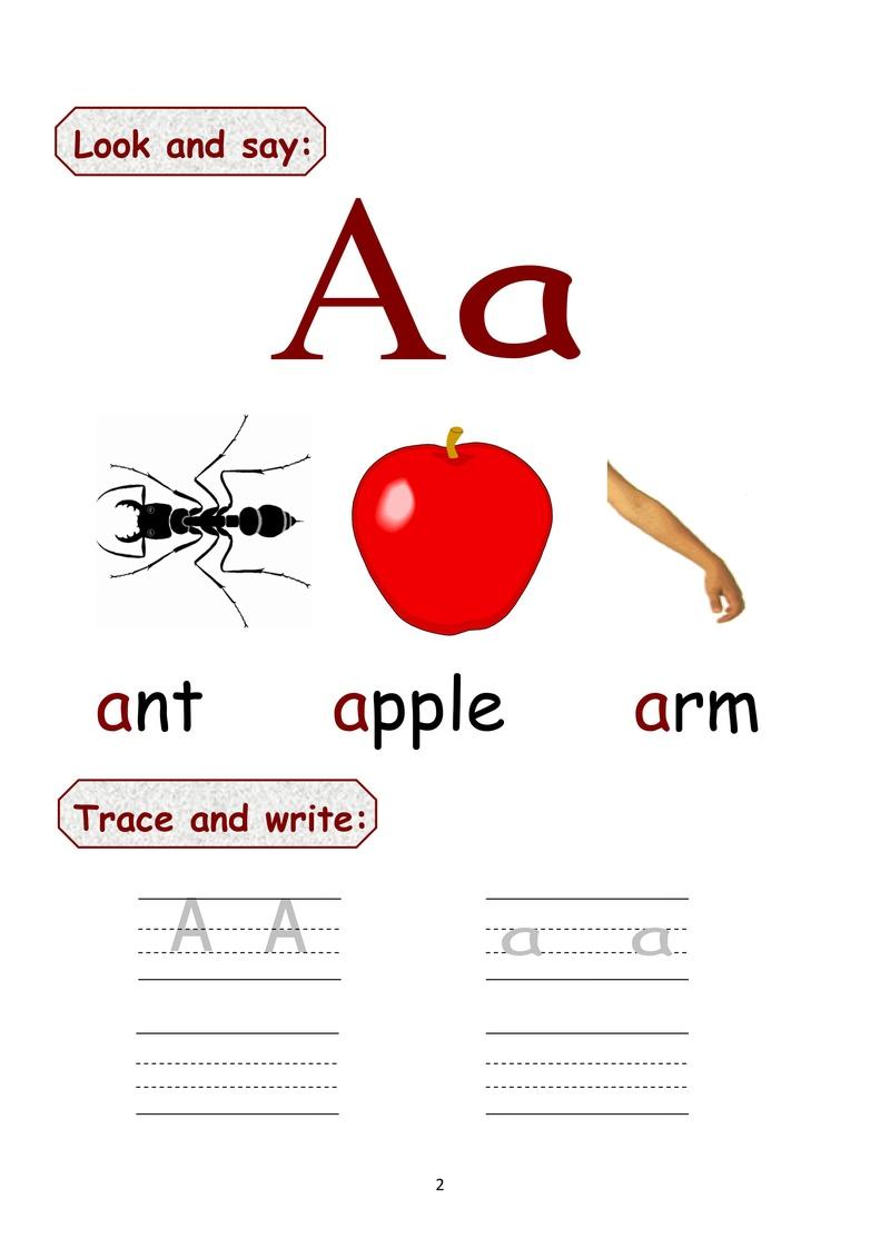 كراسة حروف اللغة الانجليزية كابتل وسمول للاطفال رائعة وجاهزة للطبع  000310