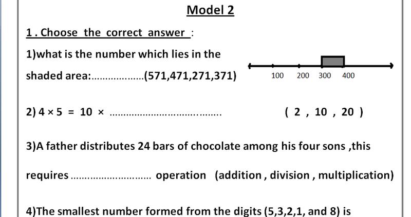 بوكليت مراجعة math للصف الثالث الابتدائي الترم الاول 2019 - اسئلة كثيرة علي منهج الماث Math-p10