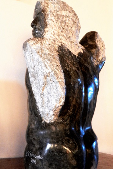 Torse masculin en albâtre noir For6010