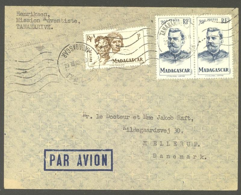 Briefmarken - Madagaskar - Frankaturen und Briefmarken 393_4010