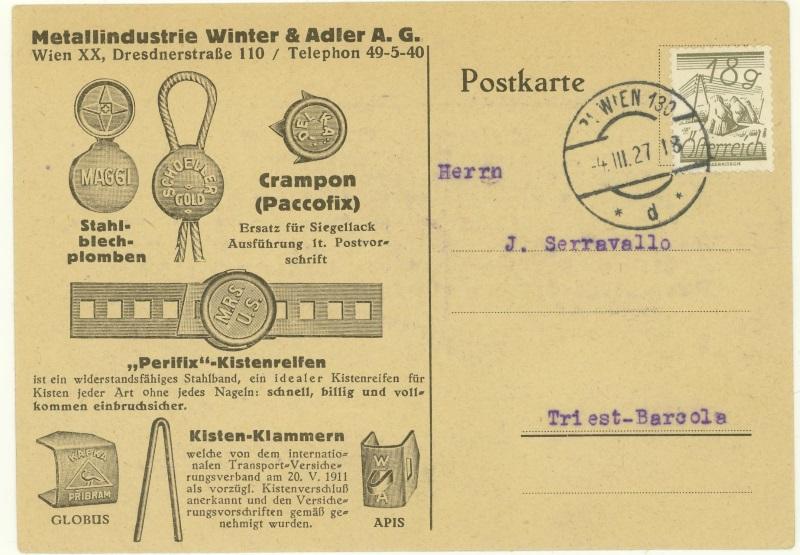 Werbeumschläge und -karten aus Österreich - Seite 5 Metall10