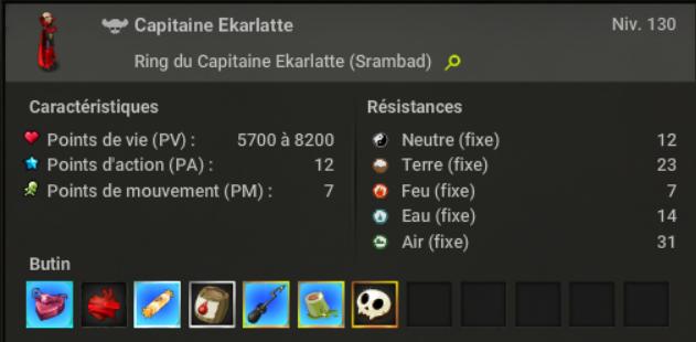 Le Ring du Capitaine Ekarlatte 710