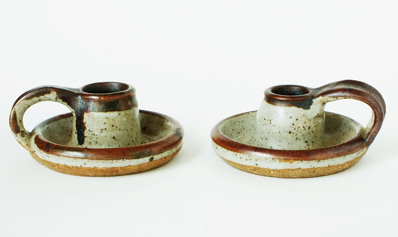 Sneddon Pottery Candle holders -  St Agnes Pottery 1960 - 1970s. Dsc02410