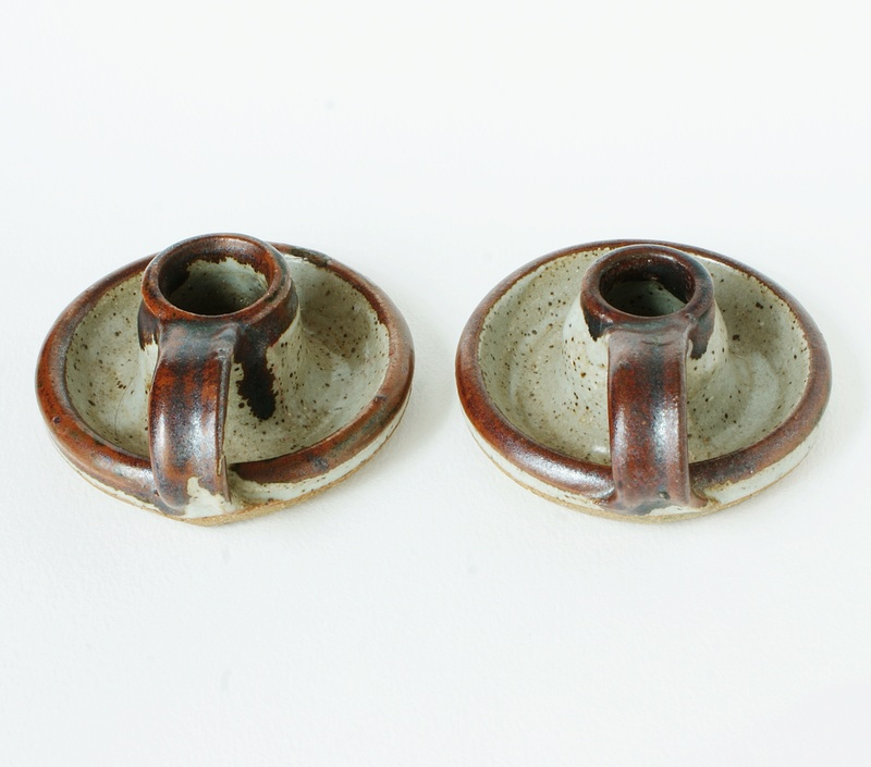Sneddon Pottery Candle holders -  St Agnes Pottery 1960 - 1970s. Dsc02411