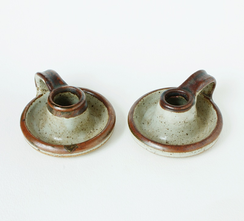 Sneddon Pottery Candle holders -  St Agnes Pottery 1960 - 1970s. Dsc02412