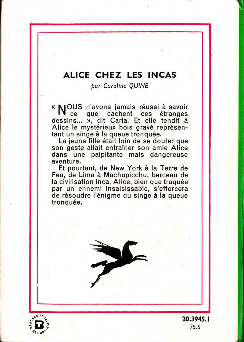 Recherches sur les anciennes éditions d'Alice (Titres 31 à 45) Relevy34