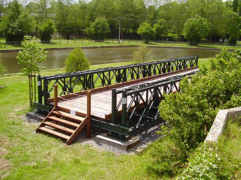 les ponts de Caen sur l'Orne à la date du 6 juin 1944 Bailey10