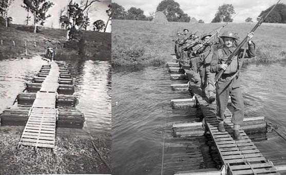 les ponts de Caen sur l'Orne à la date du 6 juin 1944 Kapok_10