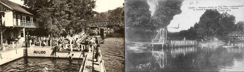 les ponts de Caen sur l'Orne à la date du 6 juin 1944 Maes10