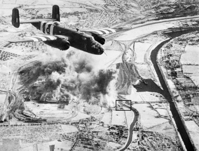 les ponts de Caen sur l'Orne à la date du 6 juin 1944 Matter10