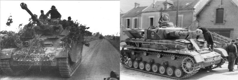 les ponts de Caen sur l'Orne à la date du 6 juin 1944 Panzer10