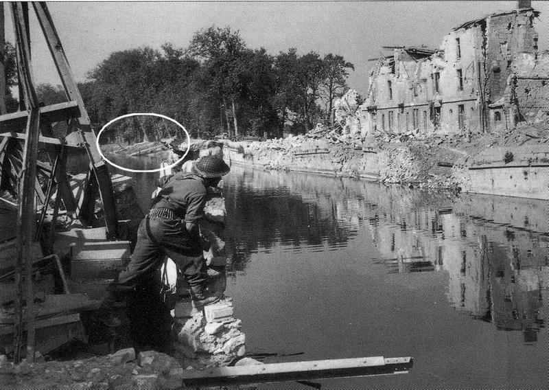 les ponts de Caen sur l'Orne à la date du 6 juin 1944 Passer13