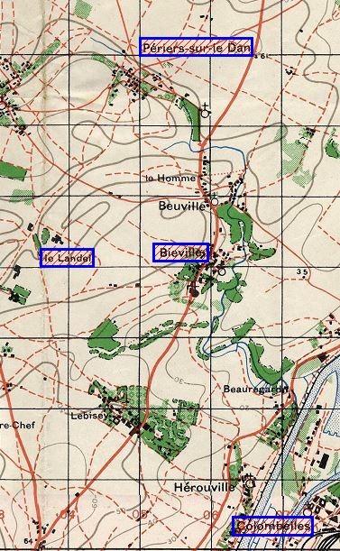 les ponts de Caen sur l'Orne à la date du 6 juin 1944 Perier10
