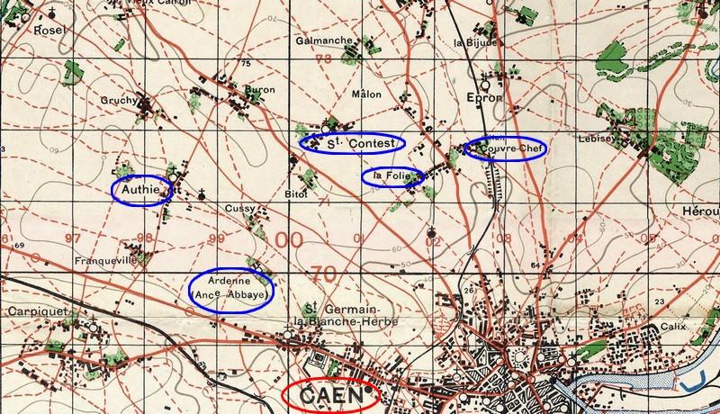 Le débarquement à Caen Plan-p10
